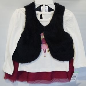 Toughskins Matching Sets - NWT Toughskins Girl's 3-pc Faux Fur Skirt Set